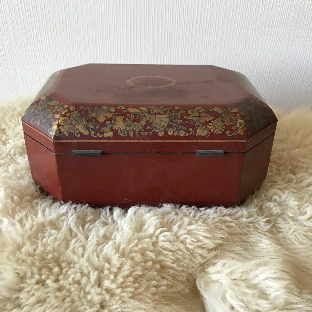 boite à thé, objet ancien, les curiosités d'Emilie 3