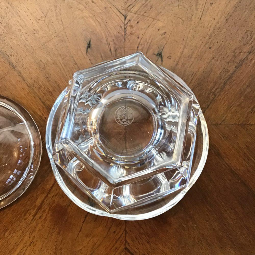 Pot ou sucrier en cristal de Baccarat objet de luxe les curiosites d'emilie 3