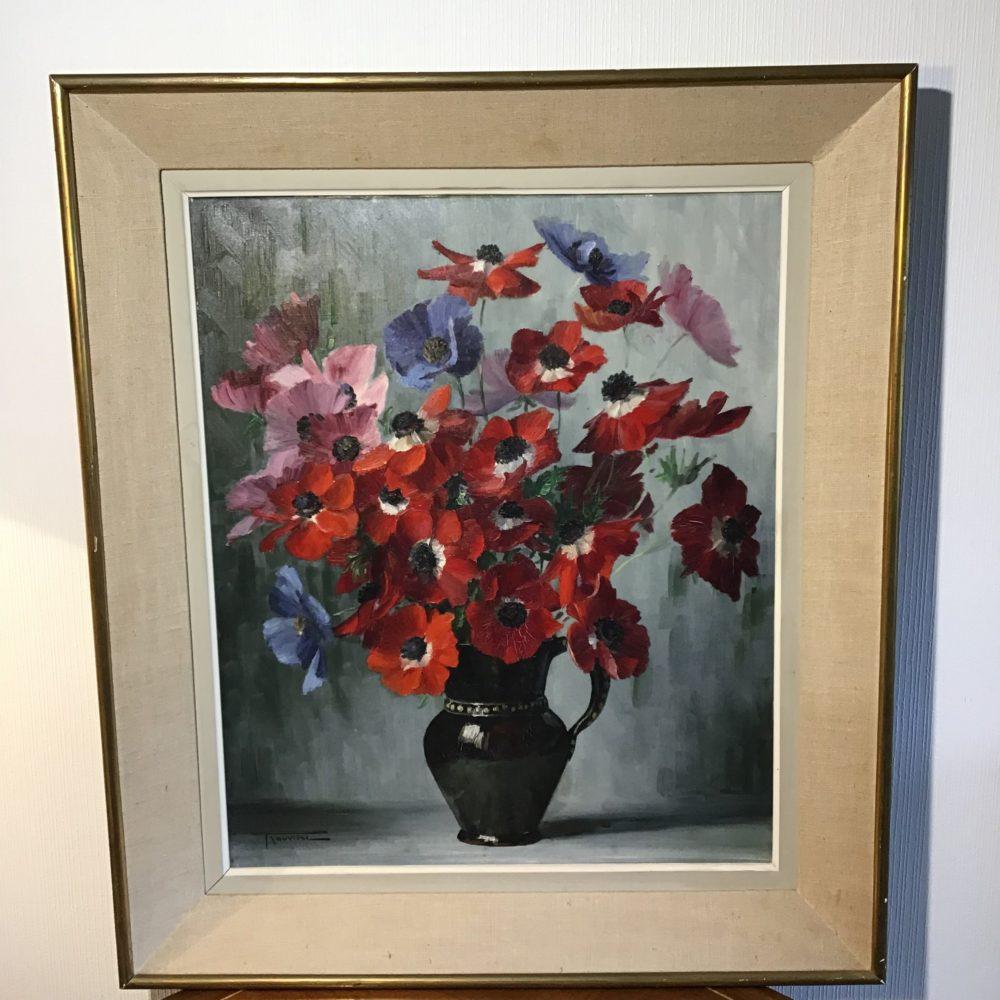 Elisabeth ROUVIERE bouquet de fleurs peinture les curiosites d'Emilie