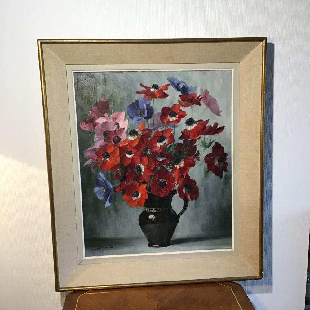 Elisabeth ROUVIERE bouquet de fleurs peinture les curiosites d'Emilie 2