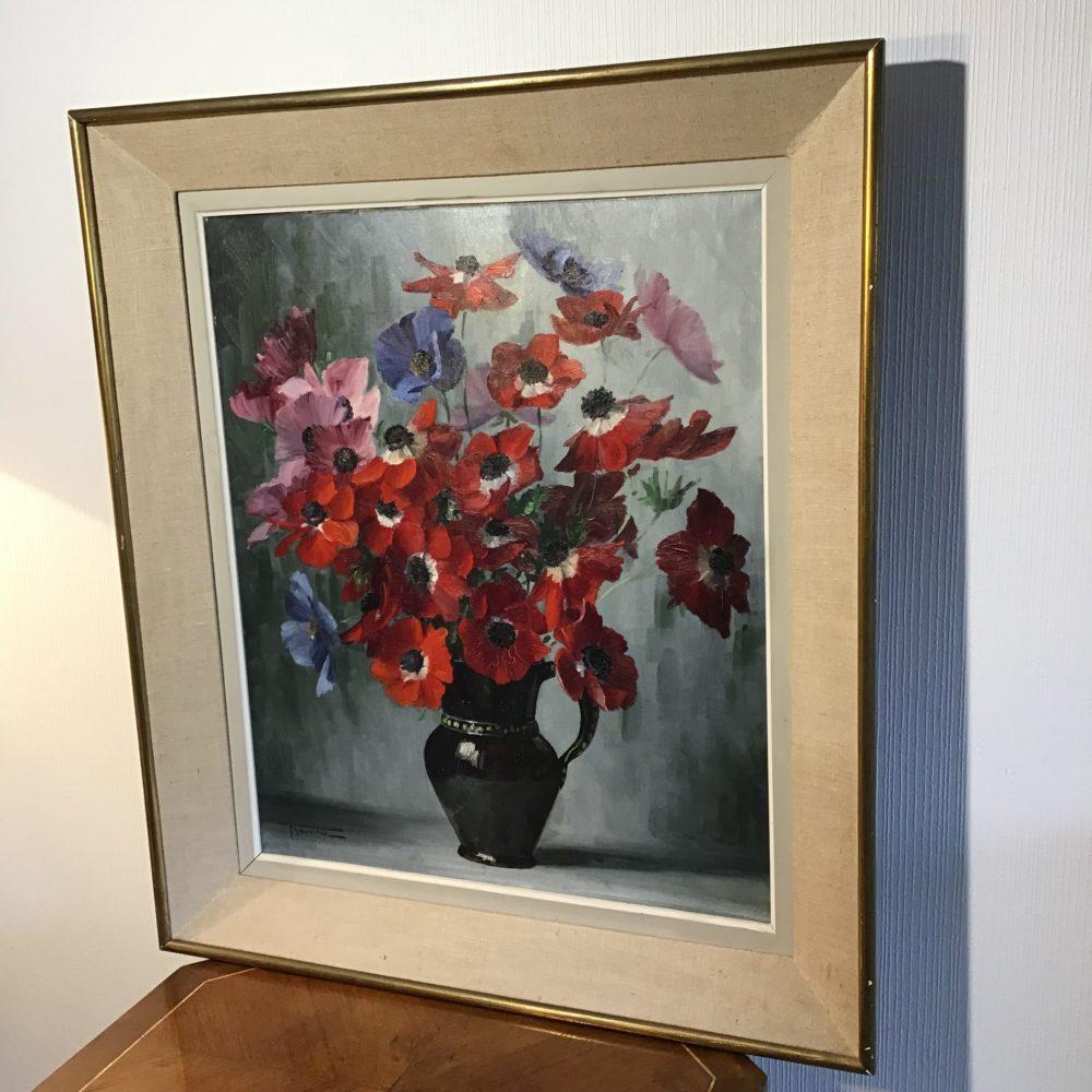 Elisabeth ROUVIERE bouquet de fleurs peinture les curiosites d'Emilie 3