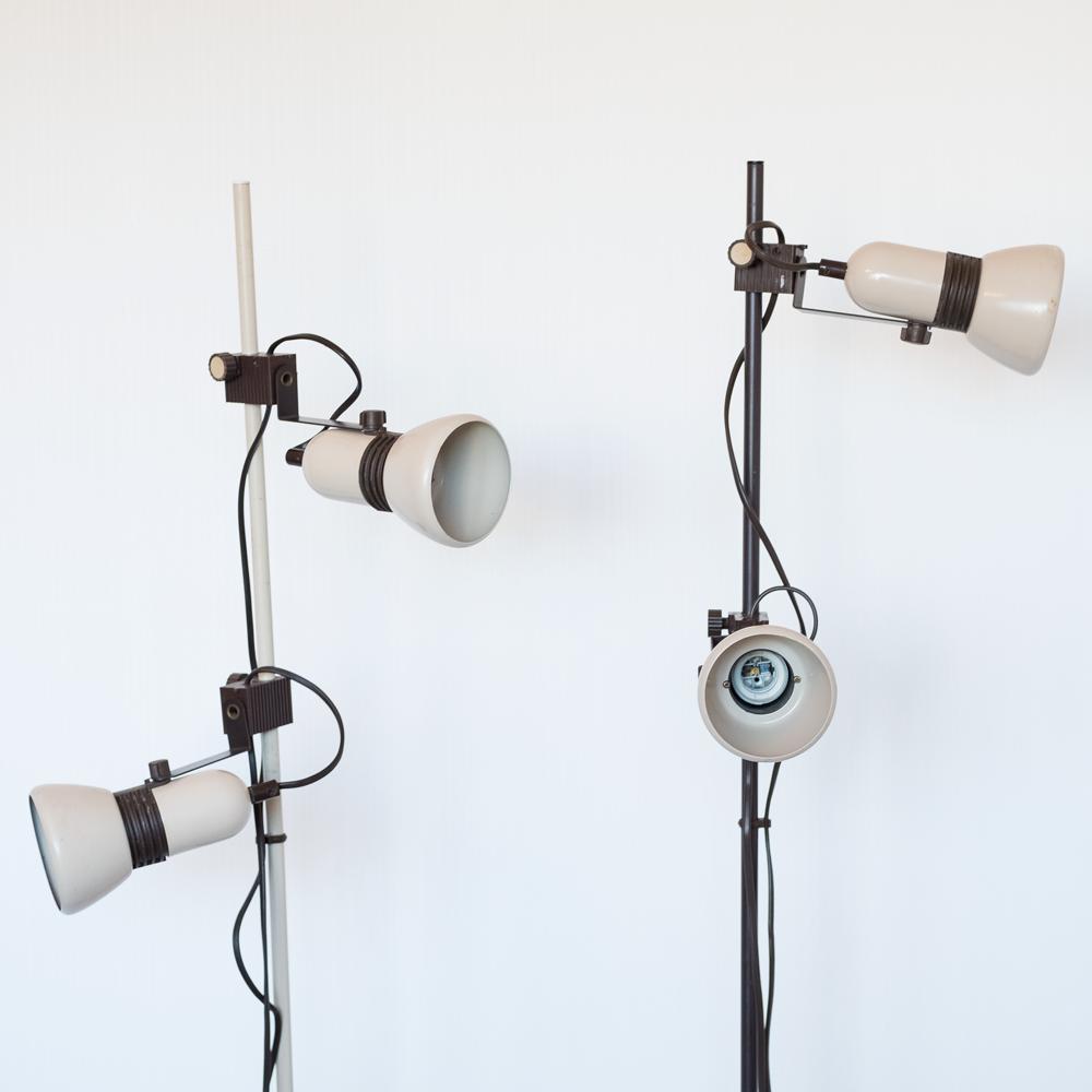 Paire de lampadaires vintage années 60-70 les curiosités d'Emilie
