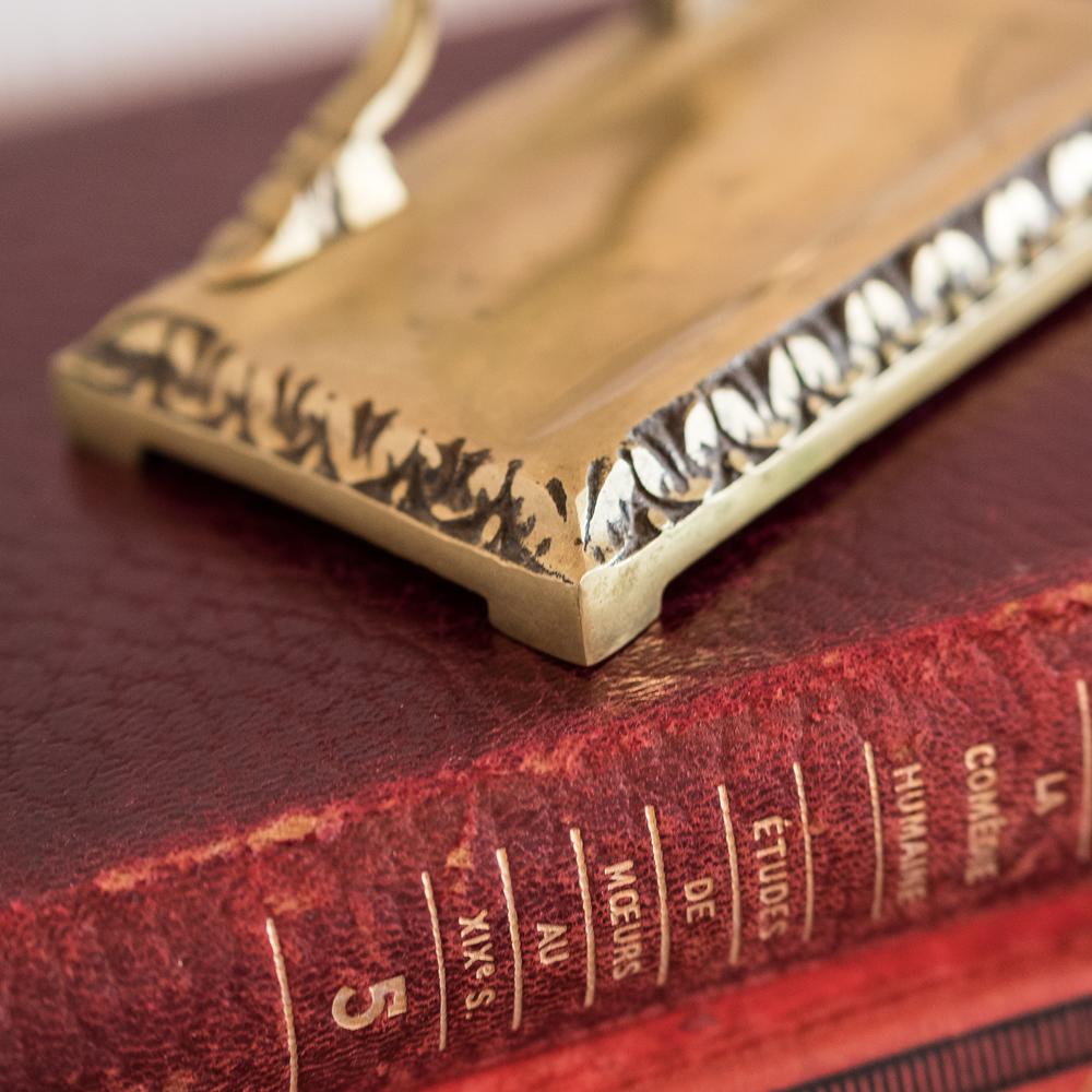 Porte-montre à gousset fin XIXème, en métal doré les curiosites d'emilie 3