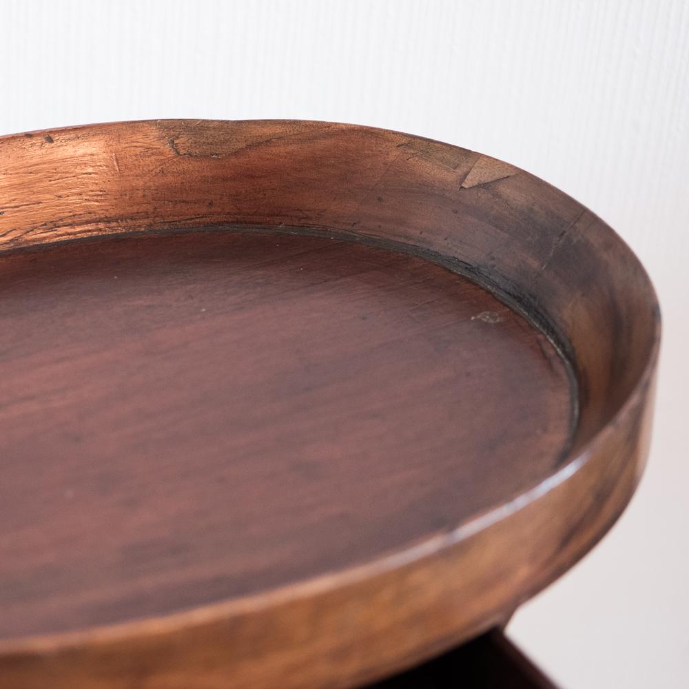 table d'appoint ovale en acajou piètement en forme de lyre époque XIXème - les Curiosités d'Emilie 2