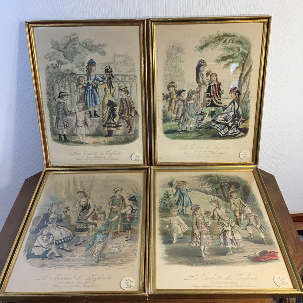 Lot de 8 gravures illustrations costumes des grands magasins Paris fin XIXème - les curiosités d'Emilie 4
