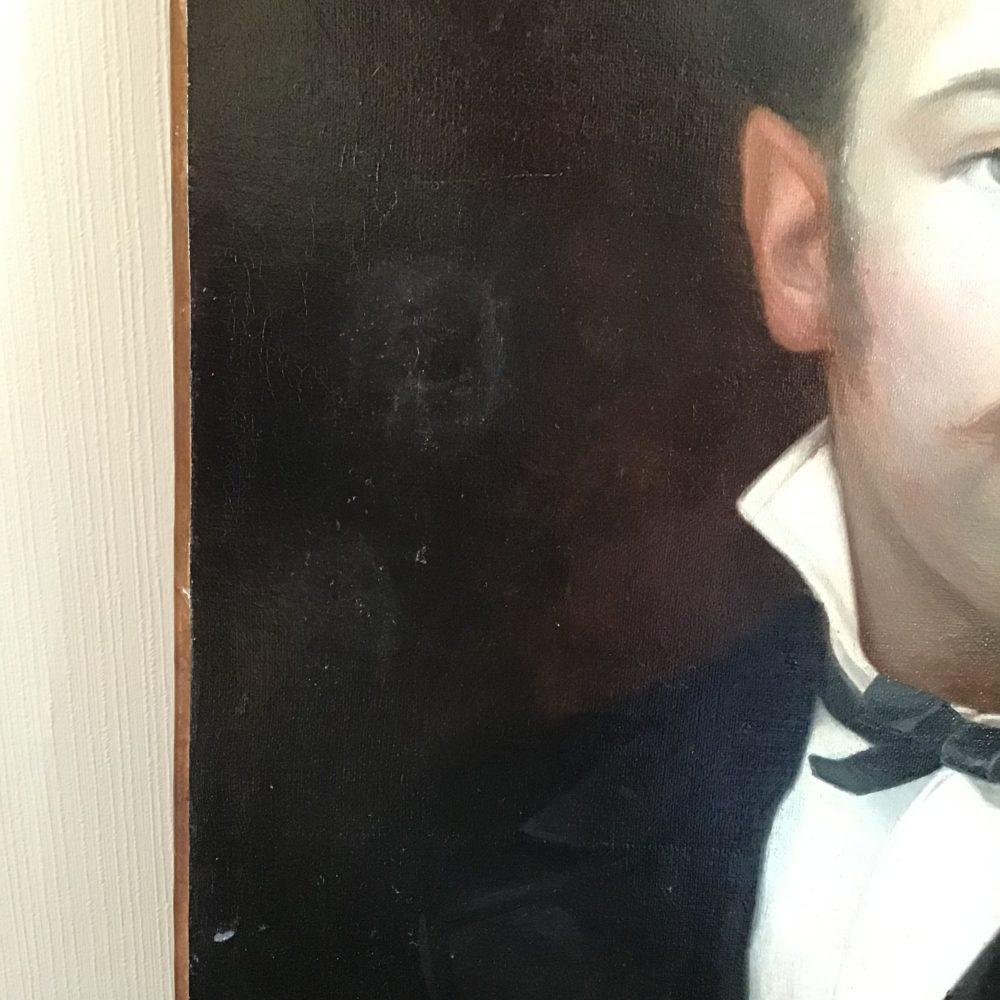 Toile XIXème - portrait d'Edmond BAZIRE - les curiosités d'Emilie 5