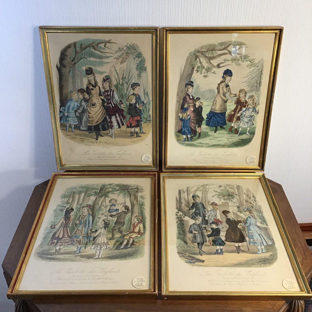 Lot de 8 gravures illustrations costumes des grands magasins Paris fin XIXème - les curiosités d'Emilie 3