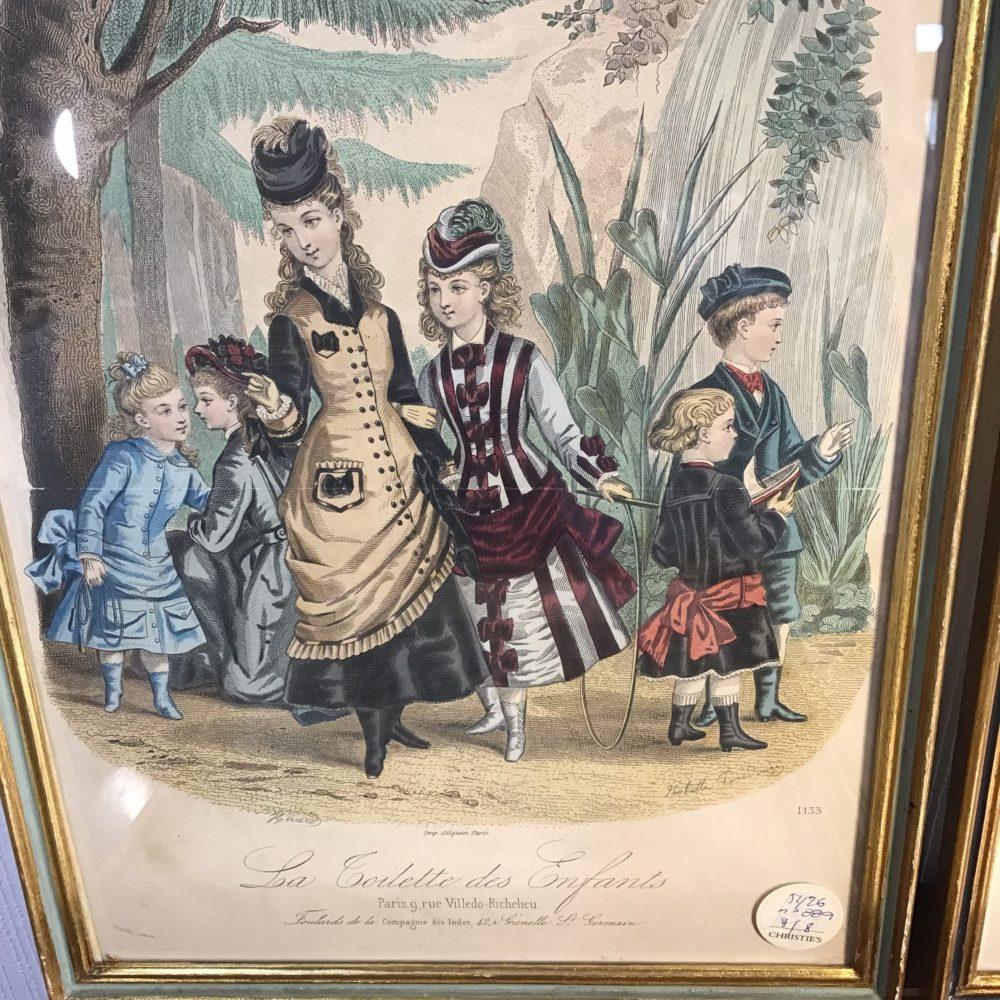 Lot de 8 gravures illustrations costumes des grands magasins Paris fin XIXème - les curiosités d'Emilie 7