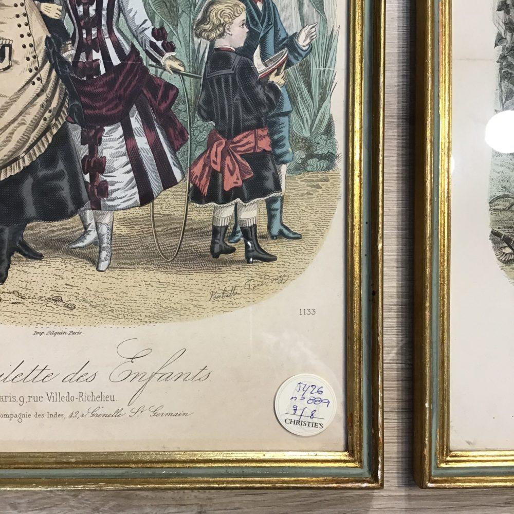 Lot de 8 gravures illustrations costumes des grands magasins Paris fin XIXème - les curiosités d'Emilie 6