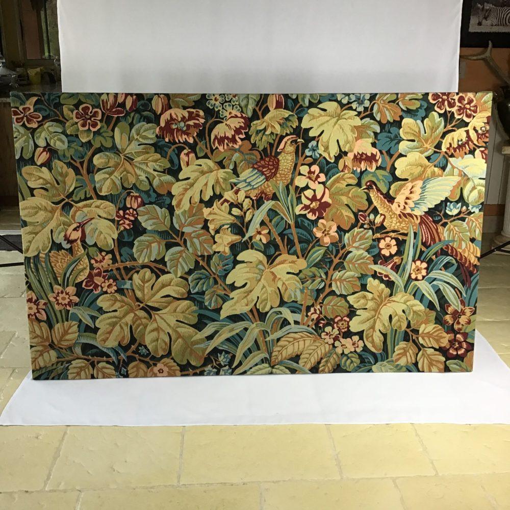Tapisserie en laine faite main carton de Jean DUPONT réalisée par l'Atelier Robert FOUR manufacture à Aubusson - à retrouver sur le site www.lescuriositesdemilie.fr 1