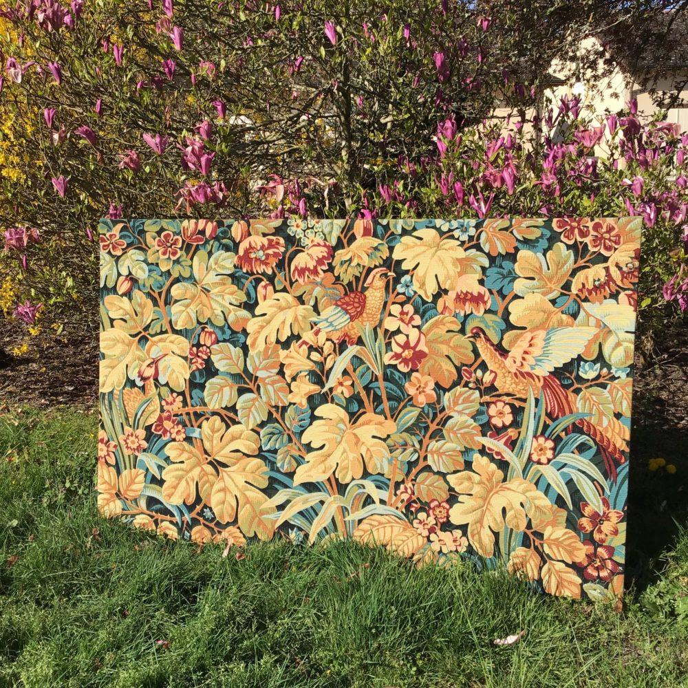 Tapisserie en laine faite main carton de Jean DUPONT réalisée par l'Atelier Robert FOUR manufacture à Aubusson - à retrouver sur le site www.lescuriositesdemilie.fr 11