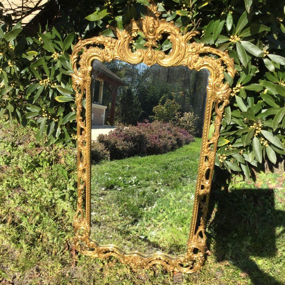 Miroir en bronze XIXeme www.lescuriositesdemilie.fr