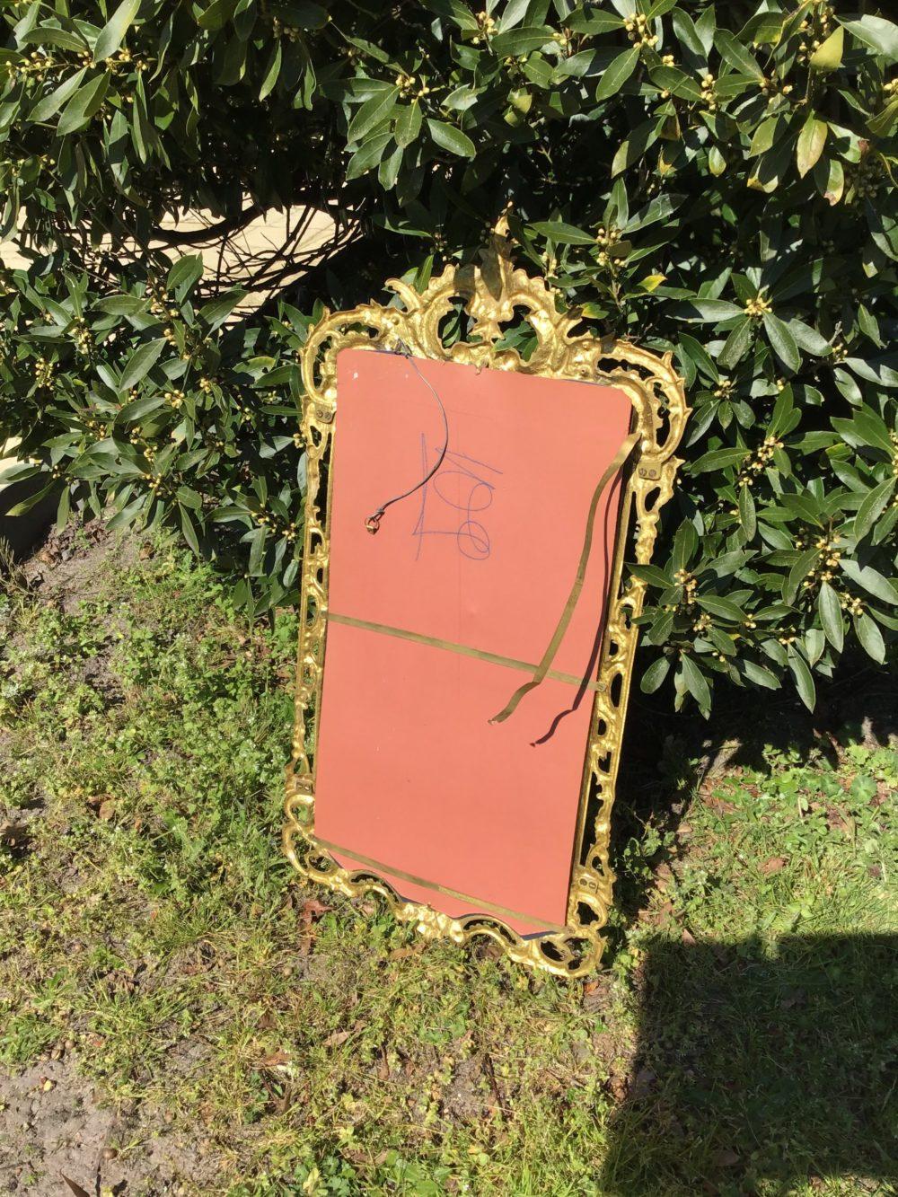 Miroir en bronze XIXeme www.lescuriositesdemilie.fr 3