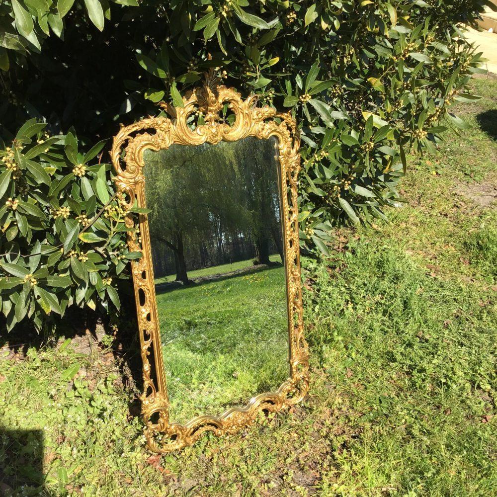 Miroir en bronze XIXeme www.lescuriositesdemilie.fr 1