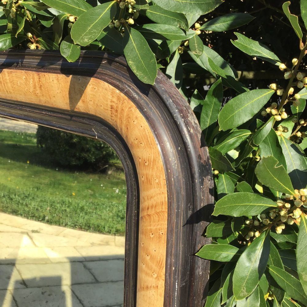 Miroir de cheminée fin XIXème en bois peint imitation trompe l'oeil - à retrouver sur le site www.lescuriositesdemilie.fr 3