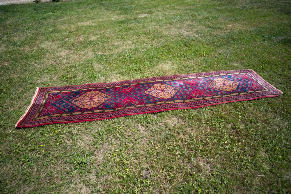 Tapis-galerie-en laine-chine-années-80-les-curiositesdemilie 1
