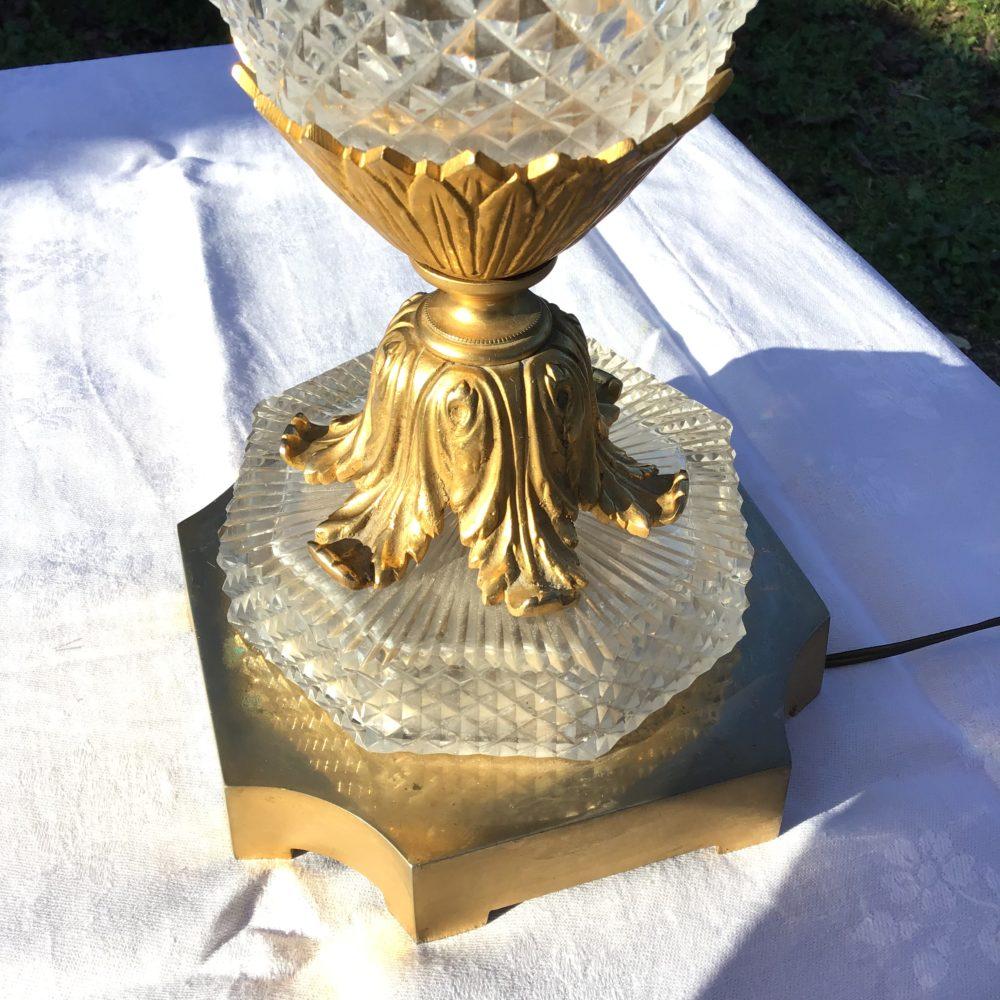 lampe-ancienne-verre-pointe-de-diamant-monture-verre-taillé-années-30-bronze-laiton-les-curiosites-d-emilie-3